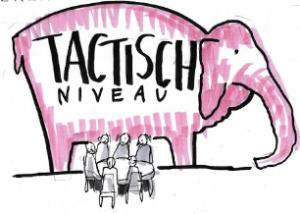 illustratie van roze olifant